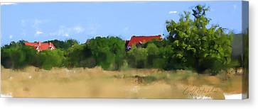 The Eschweiler Buildings Canvas Print by Geoff Strehlow