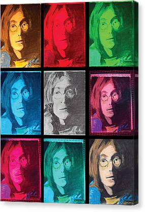 The Essence Of Light- John Lennon Canvas Print by Jimi Bush