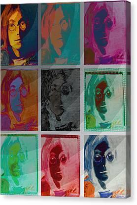 The Essence Of Light V2- John Lennon Canvas Print by Jimi Bush