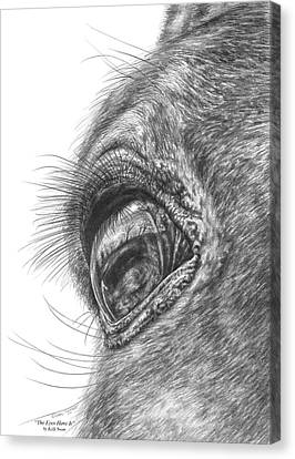 The Eyes Have It - Horse Portrait Closeup Print Canvas Print by Kelli Swan
