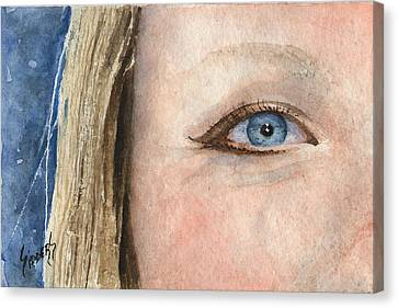The Eyes Have It - Shannon Canvas Print by Sam Sidders