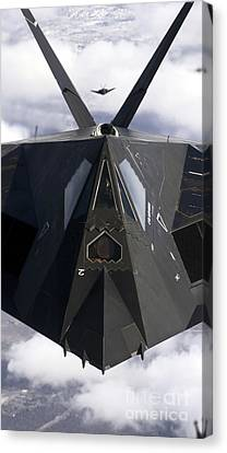 The F-117a Nighthawk Canvas Print by Stocktrek Images