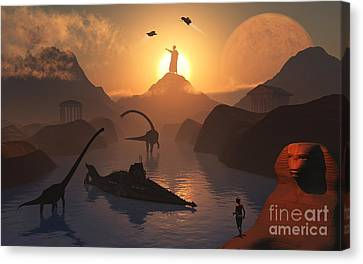 The Fabled City Of Atlantis Set Canvas Print