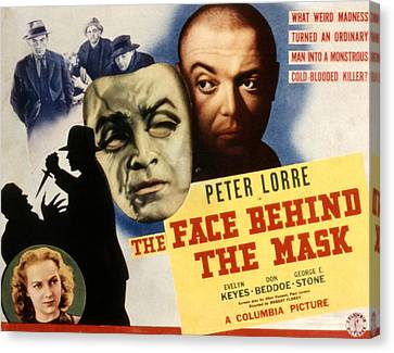 The Face Behind The Mask, Peter Lorre Canvas Print by Everett