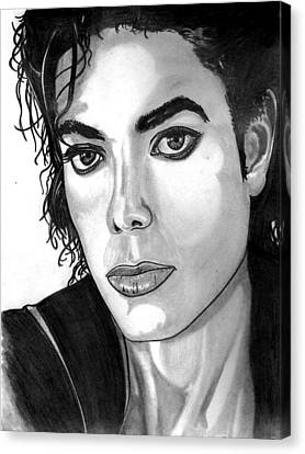 Michael Jackson Sketch Canvas Print - The Face Of Innocence  by Ralph Harlow