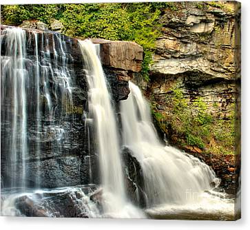 Canvas Print featuring the photograph The Face Of The Falls by Mark Dodd