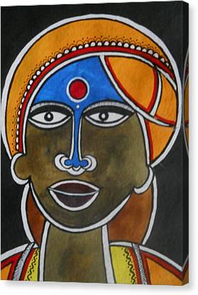 The Face Canvas Print by Paritosh Pal