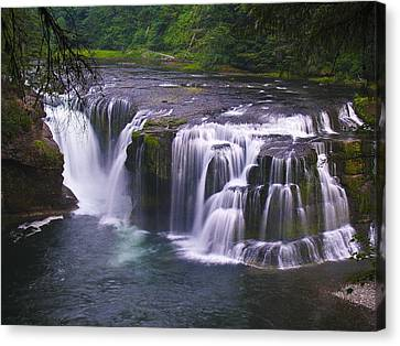 Canvas Print featuring the photograph The Falls by David Gleeson