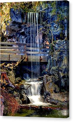 Canvas Print featuring the photograph The Falls by Deena Stoddard
