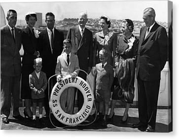 The Family Of Former President Herbert Canvas Print by Everett