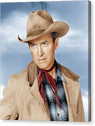 The Far Country, James Stewart, 1954 Canvas Print by Everett