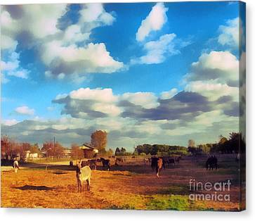 The Farm Canvas Print by Odon Czintos