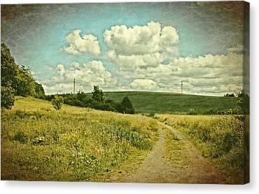 The Farm Road Canvas Print