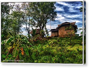 Bamboo House Canvas Print - The Farmer's House by Max Ereno