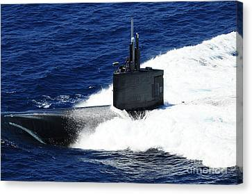 The Fast-attack Submarine Uss Canvas Print