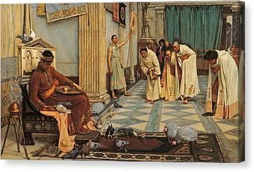 The Favourites Of Emperor Honorius Canvas Print by John William Waterhouse