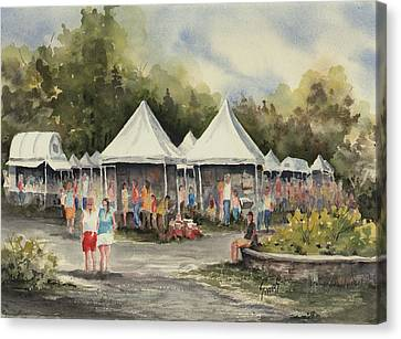 The Festival Canvas Print by Sam Sidders