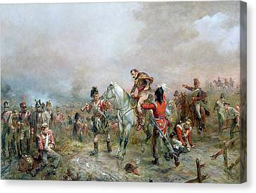 The Field At Waterloo Canvas Print by Robert Alexander Hillingford