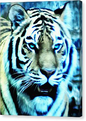 The Fierce Tiger Canvas Print by Bill Cannon