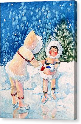 The Figure Skater 2 Canvas Print by Hanne Lore Koehler