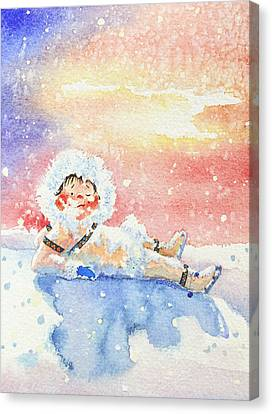 The Figure Skater 6 Canvas Print by Hanne Lore Koehler