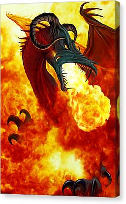 The Fire Dragon Canvas Print by The Dragon Chronicles - Garry Wa