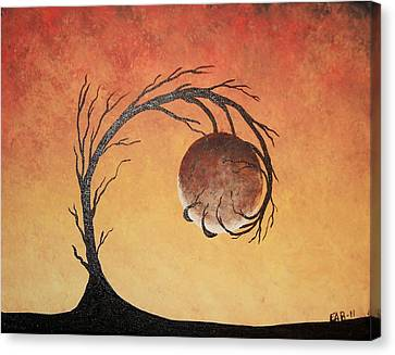 Canvas Print featuring the painting The Fire Element by Edwin Alverio