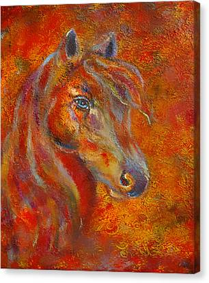 The Fire Of Passion Canvas Print by The Art With A Heart By Charlotte Phillips