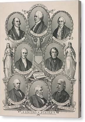 The First Eight Chief Justices Canvas Print by Everett