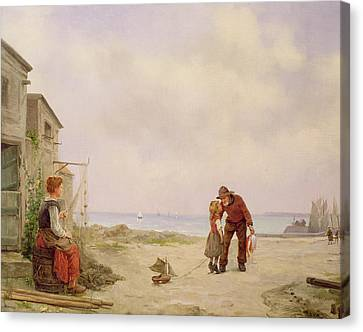 The Fisherman's Return  Canvas Print by George Haquette