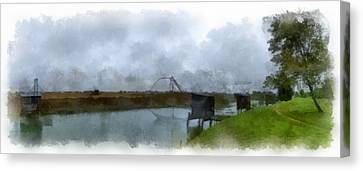 The Fishing Cabin 1 Canvas Print by Wessel Woortman