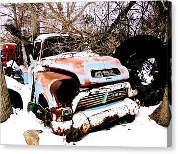 The Fixer Upper Old Gmc Farm Truck Canvas Print
