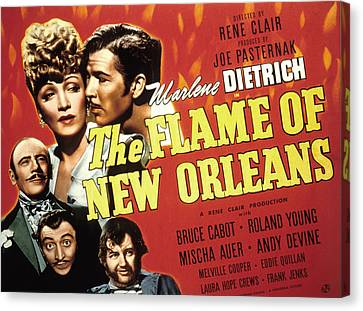 The Flame Of New Orleans, Marlene Canvas Print by Everett