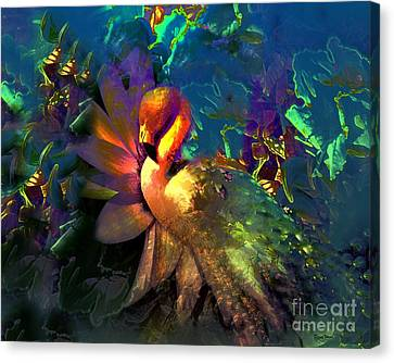 The Flamingo Of My Dreams Canvas Print by Doris Wood