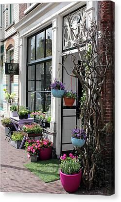 The Flower Shop Canvas Print by Tia Anderson-Esguerra