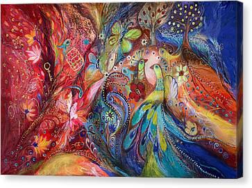 Jerusalem Canvas Print - The Flowers And Butterflies by Elena Kotliarker