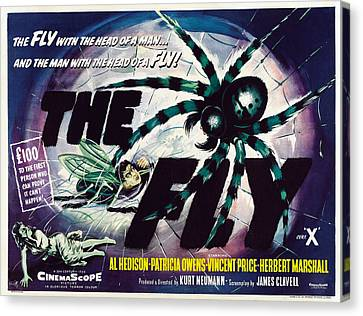 The Fly, David Hedison Aka Al Hedison Canvas Print by Everett