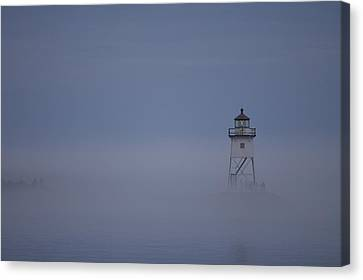 The Fog Rolls In Canvas Print by Kate Purdy