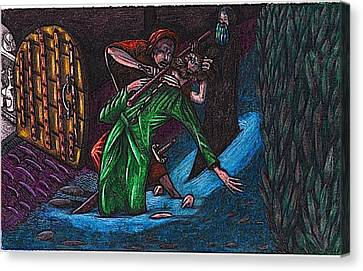 The Forest Lord Prevents A Rash Act Canvas Print by Al Goldfarb