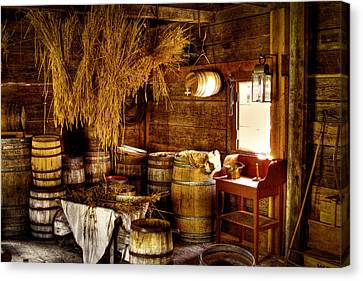 The Fort Nisqually Granary Canvas Print by David Patterson
