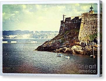 The Fort On The Harbor - La Coruna Canvas Print