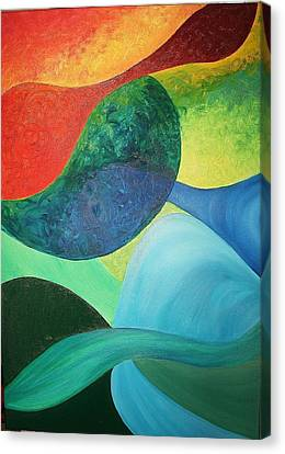 Canvas Print - The Four Elements by Derya  Aktas