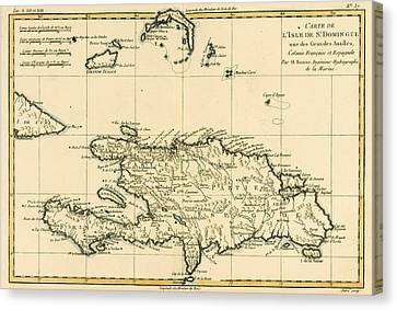 The French And Spanish Colony Of The Island Of St Dominic Of The Greater Antilles Canvas Print by Guillaume Raynal