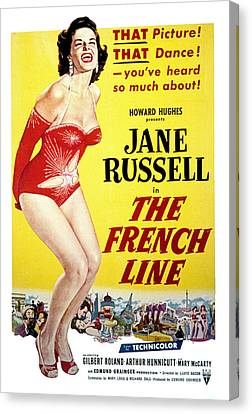 The French Line, Jane Russell, 1954 Canvas Print by Everett