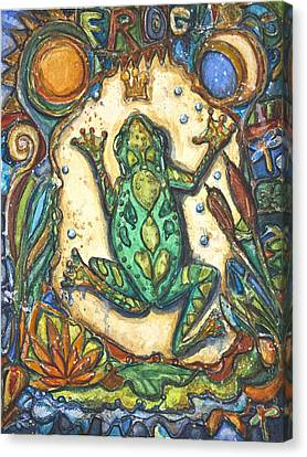 The Frog Prince   Children Of The Earth Series Canvas Print by Patricia Allingham Carlson
