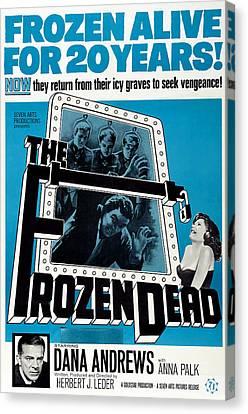 Horror Fantasy Movies Canvas Print - The Frozen Dead, Bottom Left Dana by Everett