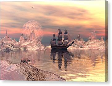 The Frozen North Canvas Print by Claude McCoy