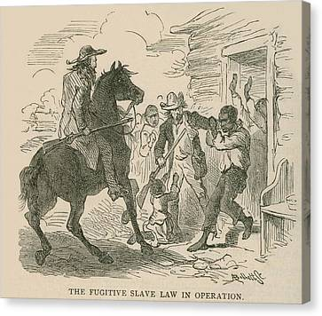 The Fugitive Slave Law In Operation Canvas Print by Everett