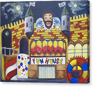 The Funhouse Castle Canvas Print by Patricia Arroyo