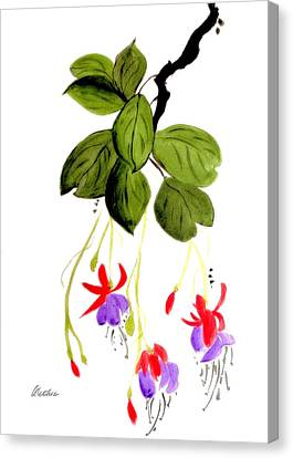Canvas Print featuring the painting The Fuschia by Alethea McKee